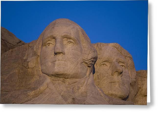 Dakota Faces Greeting Cards - Mt. Rushmore At Sunrise Greeting Card by Joel Sartore