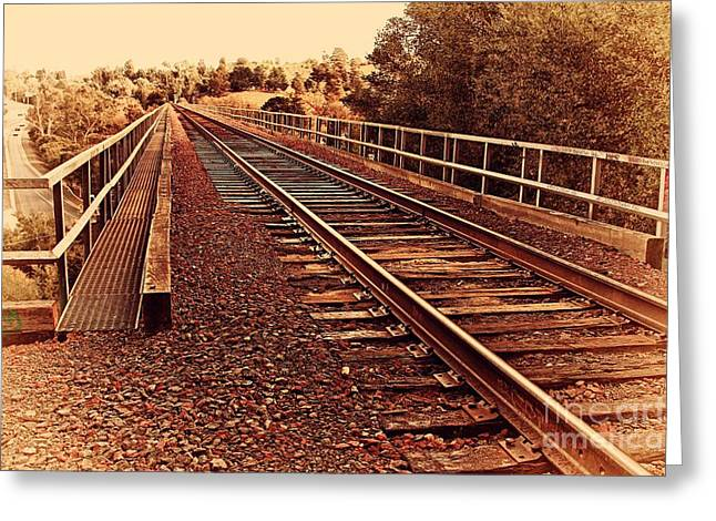 Muir Railroad Trestle In Martinez California . 7d10218 Greeting Card by Wingsdomain Art and Photography