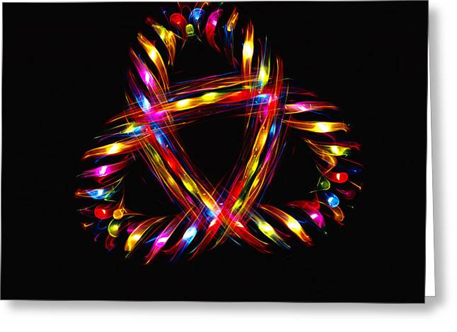 Sfx Greeting Cards - Multicoloured Lights Greeting Card by Lawrence Lawry