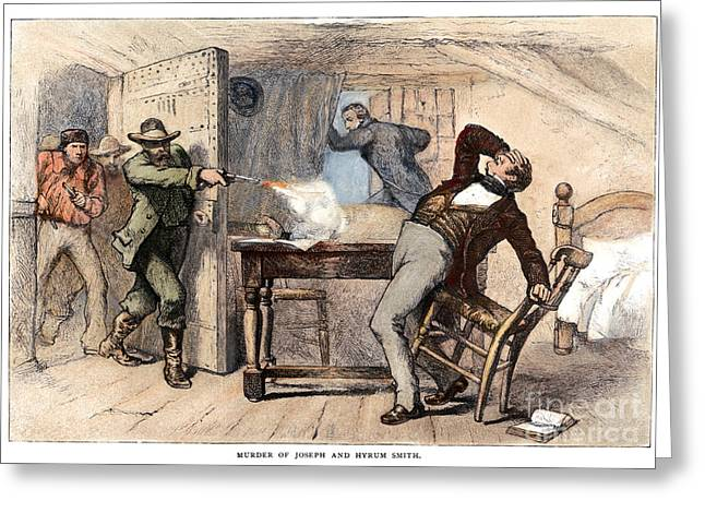 Discrimination Greeting Cards - Murder Of Smith, 1844 Greeting Card by Granger