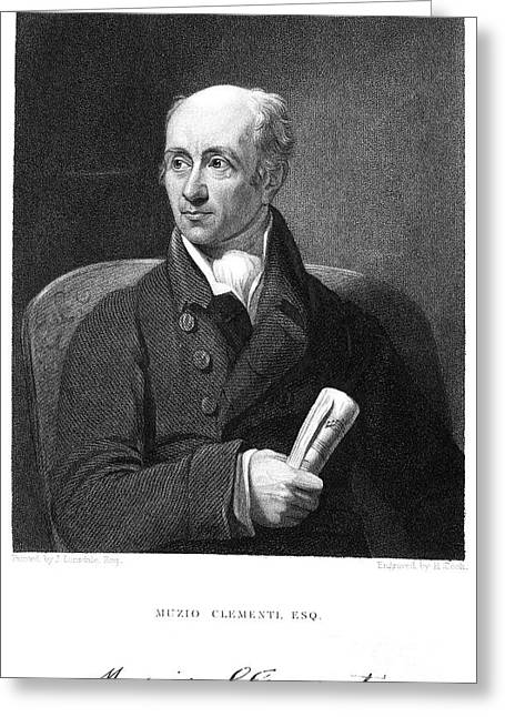 Autograph Greeting Cards - Muzio Clementi (1752-1832) Greeting Card by Granger