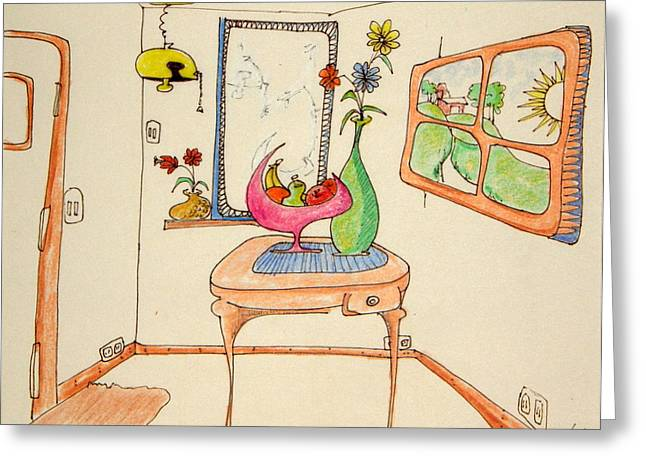 Denny Casto Greeting Cards - My Room Greeting Card by Denny Casto