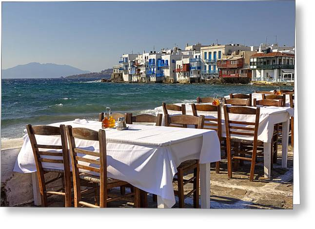Mykonos Greeting Card by Joana Kruse