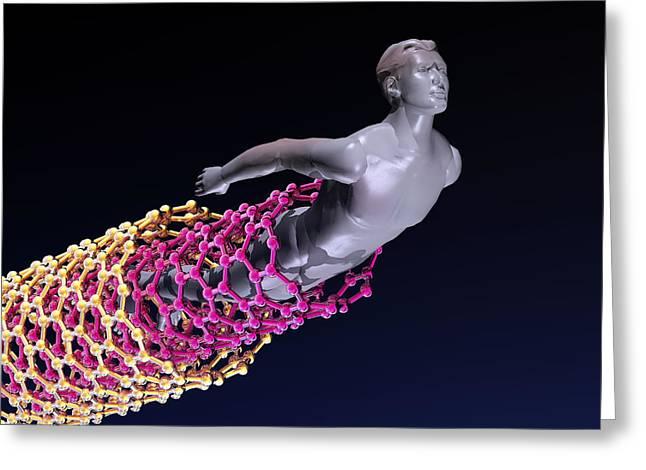 Emergence Greeting Cards - Nanotube Technology, Conceptual Artwork Greeting Card by Laguna Design