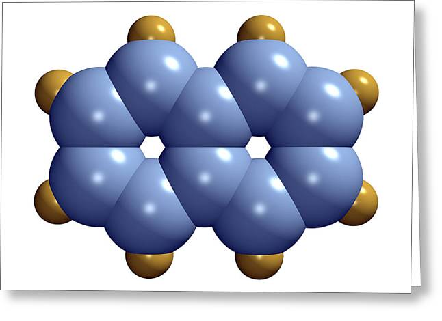 Carcinogenic Greeting Cards - Naphthalene Molecule Greeting Card by Dr Mark J. Winter