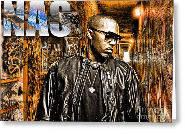 Nas Greeting Card by The DigArtisT