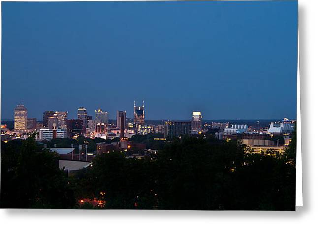 Nashville Tennessee Greeting Cards - Nashville by Night 1 Greeting Card by Douglas Barnett
