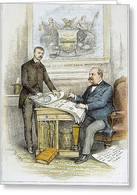 Reform Photographs Greeting Cards - Nast: Civil Service Reform Greeting Card by Granger