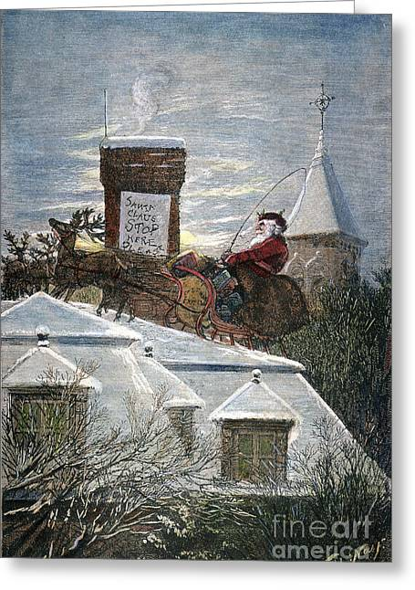 Recently Sold -  - Nast Greeting Cards - Nast: Santa Claus Greeting Card by Granger