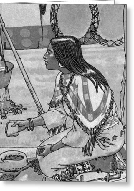 Grinding Greeting Cards - Native American Medicine Greeting Card by Science Source