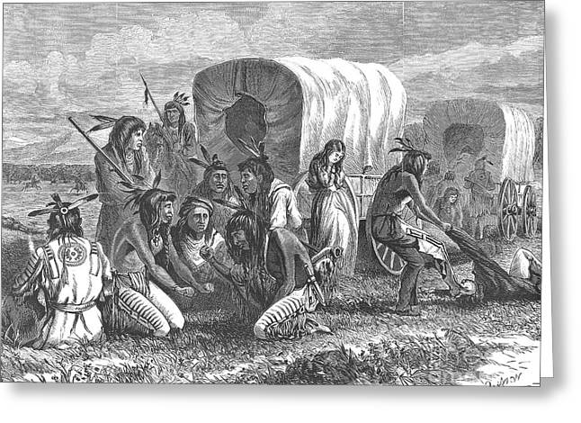 NATIVE AMERICANS: GAMBLING, 1870 Greeting Card by Granger