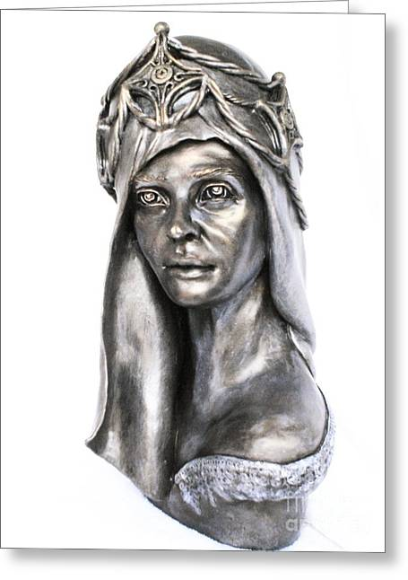 Bust Sculptures Greeting Cards - Natural Mystic Greeting Card by Wayne Niemi