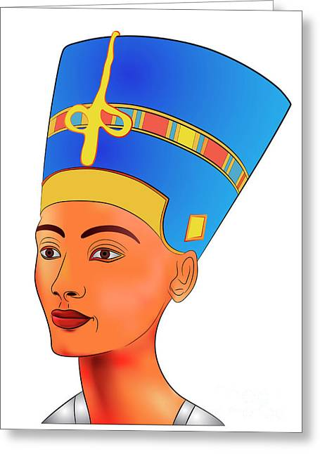 Pharaoh Digital Art Greeting Cards - Nefertiti Greeting Card by Michal Boubin
