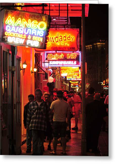 Neons On Bourbon Street Greeting Card by Bourbon  Street