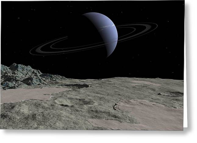 Nitrogen Greeting Cards - Neptune From Triton, Artwork Greeting Card by Walter Myers