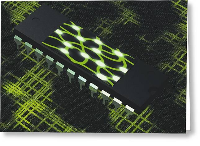 Neural Greeting Cards - Neural Chip Greeting Card by Laguna Design