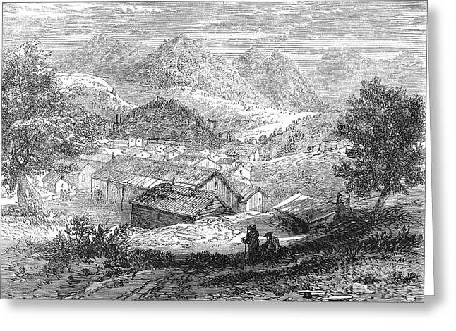 Nevada: Silver Mines, 1862 Greeting Card by Granger
