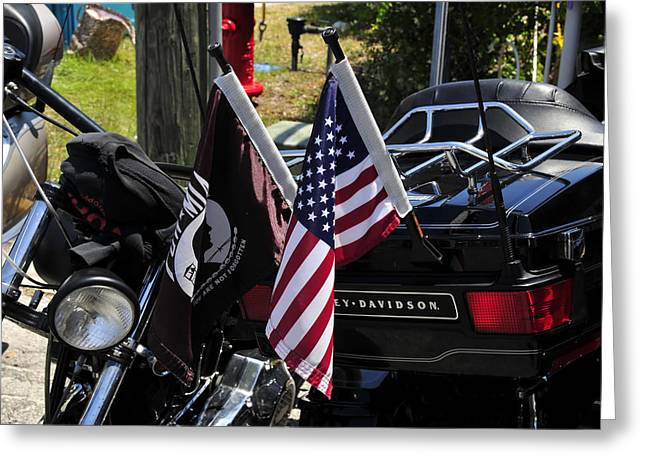 Black Flag Greeting Cards - Never Forgotten Greeting Card by David Lee Thompson