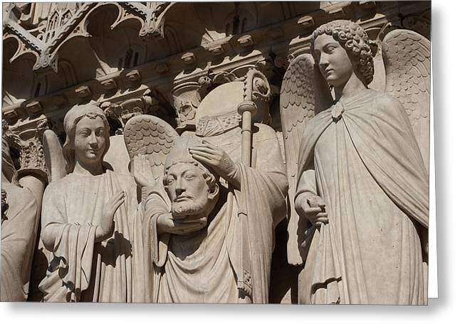 Christianity Sculptures Greeting Cards - Never lose your head over a woman Greeting Card by Carl Purcell