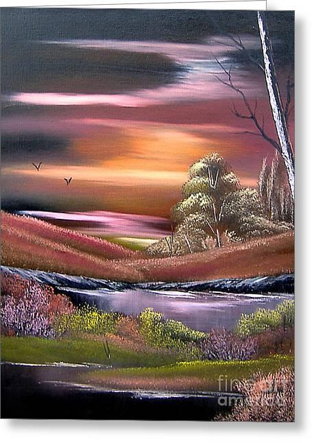 Neverland Greeting Card by Cynthia Adams