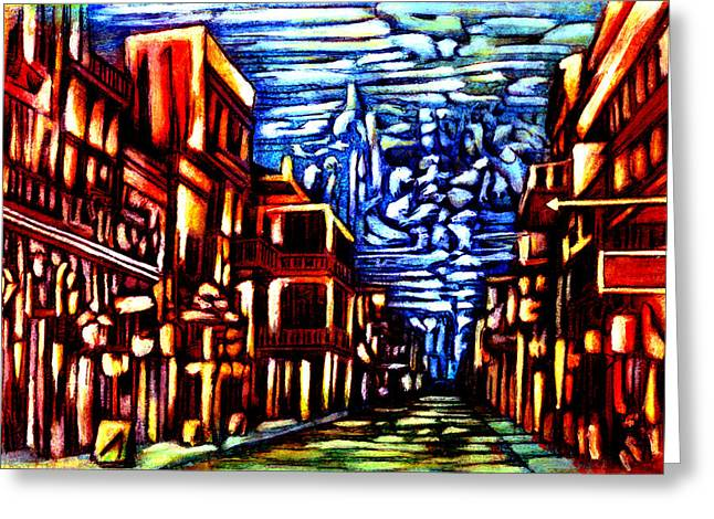 New Orleans Greeting Card by Giuliano Cavallo