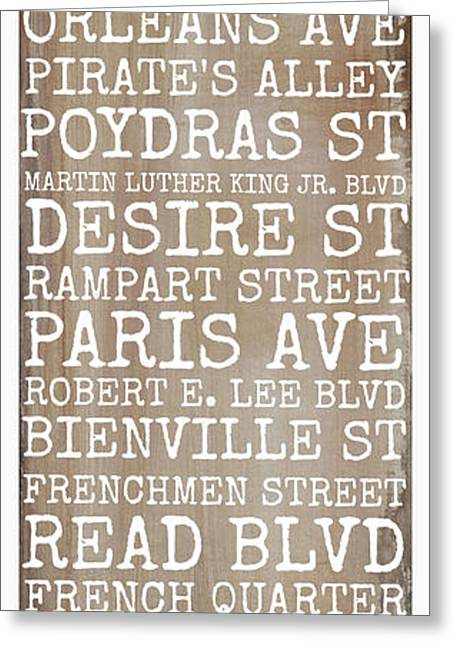 St Charles Avenue Greeting Cards - New Orleans Streets Greeting Card by Susan Bordelon