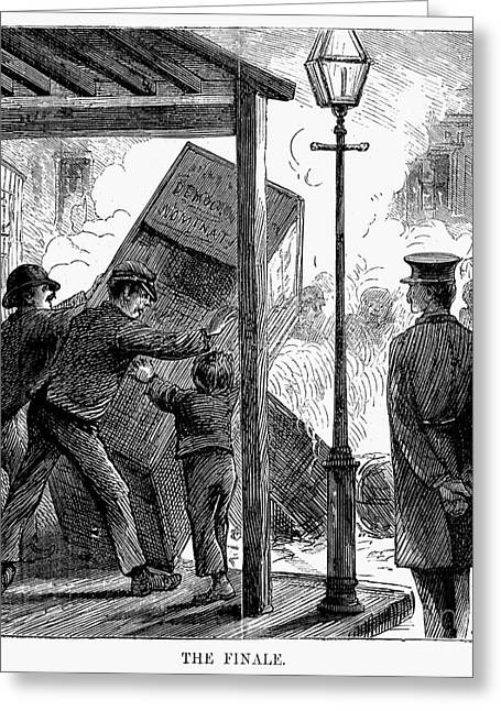 New York: Election Of 1870 Greeting Card by Granger