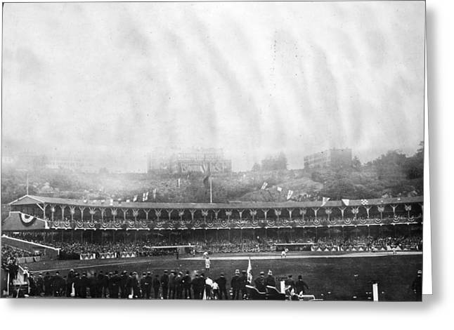 NEW YORK: POLO GROUNDS Greeting Card by Granger