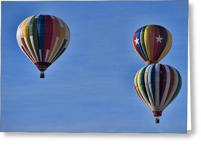 Hot Air Balloon Ride Greeting Cards - New York State Festival of Balloons Greeting Card by Joe Granita