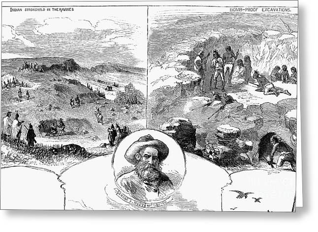 Huston Greeting Cards - Nez Perce Campaign, 1877 Greeting Card by Granger