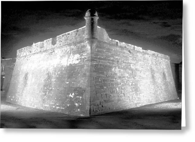 Night at the Castillo Greeting Card by David Lee Thompson