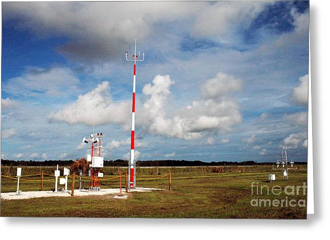 Noaa Greeting Cards - Noaa Weather Station Greeting Card by Nasa
