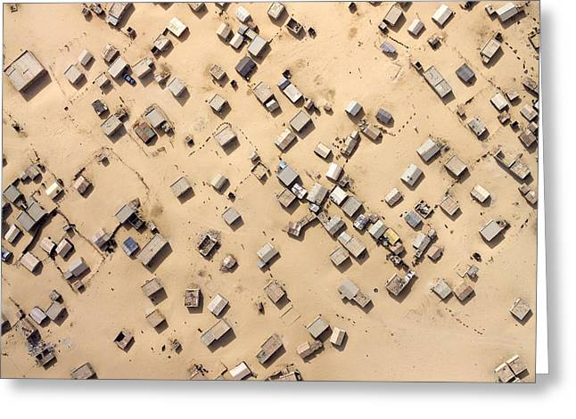 Desertification Greeting Cards - Nouakchott Is Being Covered Greeting Card by Michael Fay