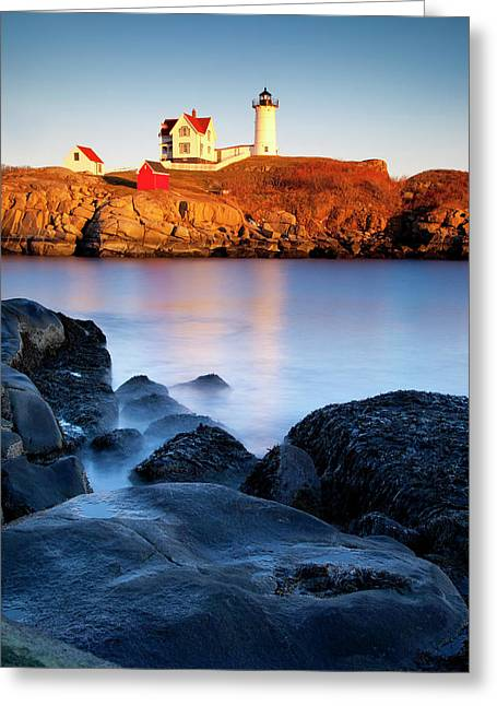 Nubble Greeting Cards - Nubble Lighthouse Greeting Card by Brian Jannsen