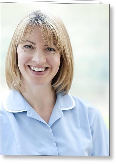 District Nurse Greeting Cards - Nurse Smiling Greeting Card by