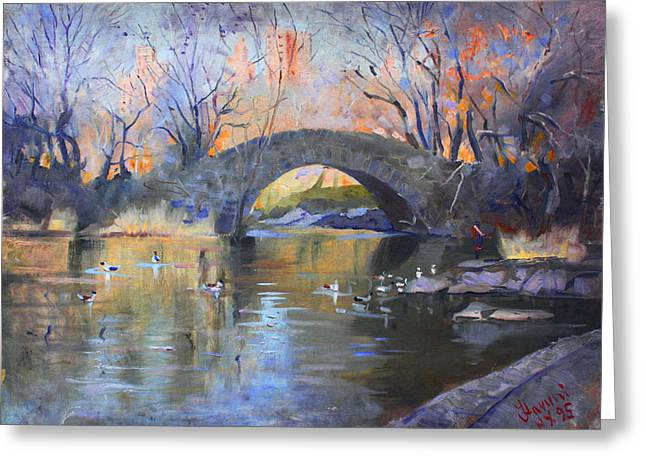 Manhattan Greeting Cards - NYC Central Park Greeting Card by Ylli Haruni