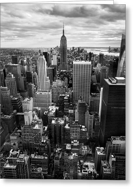 Manhattan Greeting Cards - NYC Downtown Greeting Card by Nina Papiorek