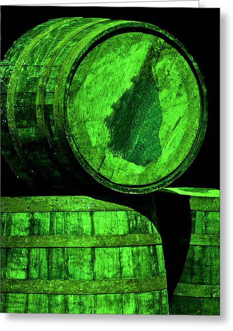 Coopersmith Greeting Cards - Oak Barrel Green Greeting Card by LeeAnn McLaneGoetz McLaneGoetzStudioLLCcom