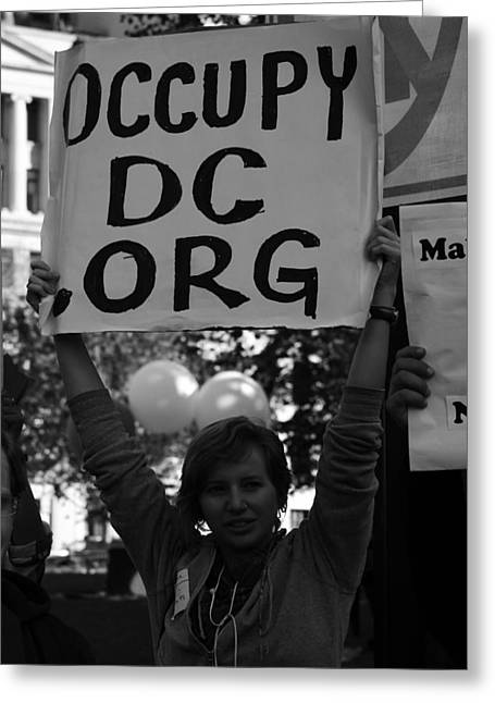Occupy Greeting Cards - Occupy DC Greeting Card by Sonya Anthony