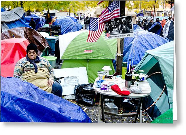 Occupy Greeting Cards - Occupy Greeting Card by Johnny Sandaire