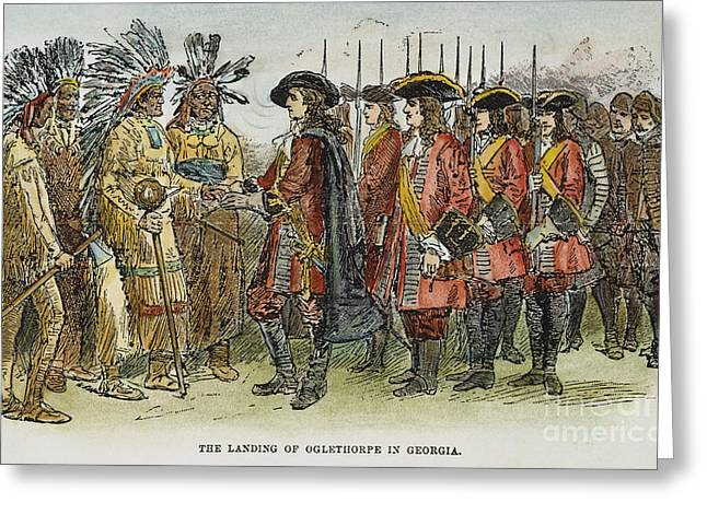 Bayonet Greeting Cards - Oglethorpe At Savannah Greeting Card by Granger