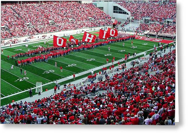 Ohio State Greeting Cards - Ohio Flags Greeting Card by Peter  McIntosh