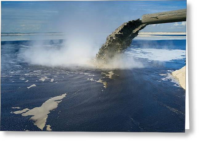 Oil Slick Greeting Cards - Oil Industry Pollution Greeting Card by David Nunuk