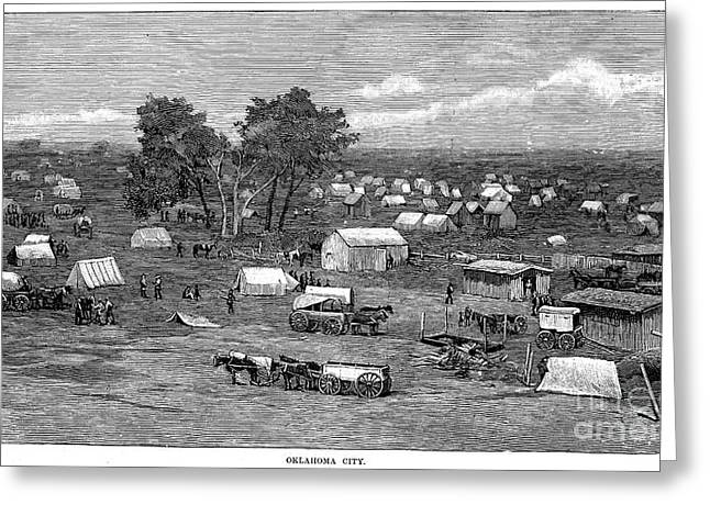 Destiny Greeting Cards - Oklahoma City, 1889 Greeting Card by Granger
