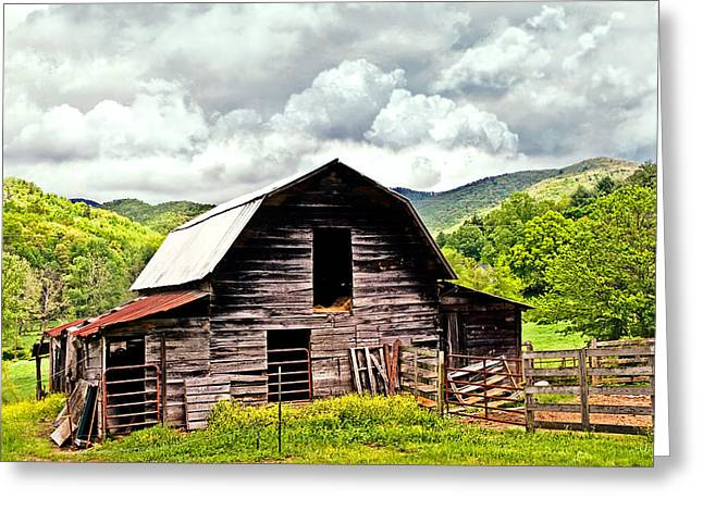 Susan Leggett Greeting Cards - Old Barn  Greeting Card by Susan Leggett
