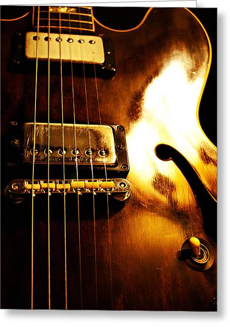 Blues Guitar Greeting Cards - Old Faithful Greeting Card by Christopher Gaston