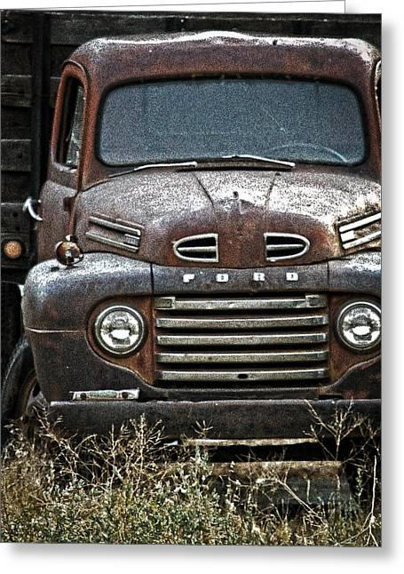 1949 Plymouth Greeting Cards - Old Ford Greeting Card by Steve McKinzie