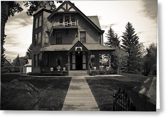 Outside Pyrography Greeting Cards - Old House Greeting Card by Darren Langlois
