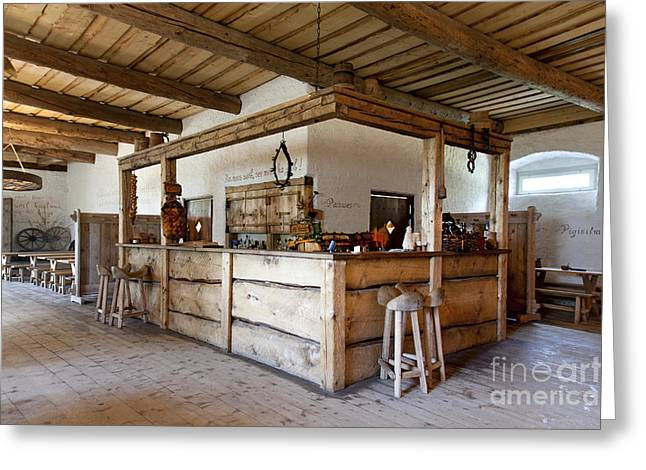 Old Inns Greeting Cards - Old Inn Bar Greeting Card by Jaak Nilson