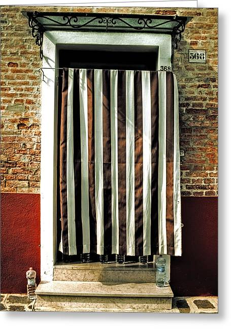 Bottled Water Greeting Cards - Old Italian Door Greeting Card by Joana Kruse
